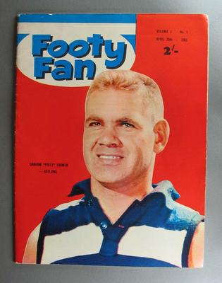 "Copy of ""Footy Fan"" magazine, vol. 1, no.1, 20 April 1963; cover image of Graham Farmer"