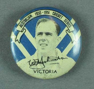 Badge, depicts William Johnston c1950-51