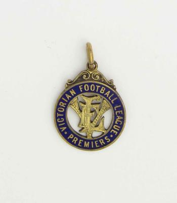 Victorian Football League premiership medal, awarded to Norm Smith - 1940