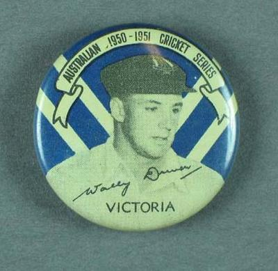 Badge, depicts Walter Driver c1950-51