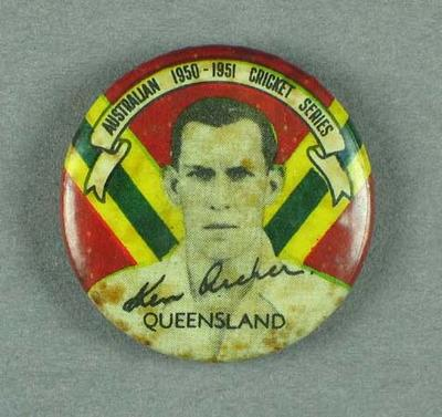Badge, depicts Ken Archer c1950-51