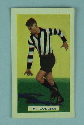 Trade card featuring Harry Collier c1930s