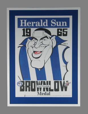 WEG 1965 Brownlow Medal Poster featuring Noel Teasdale