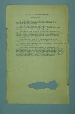 Memorandum regarding Herald Learn to Swim campaign, c1930s