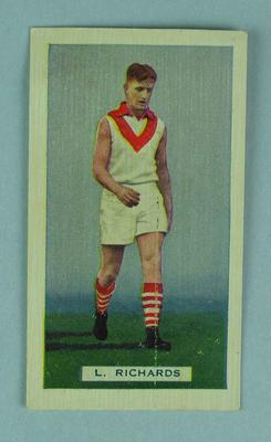 Trade card featuring L Richards c1930s