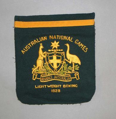 Blazer pocket of Harry Campbell - Australian National Games, Lightweight Boxing 1928