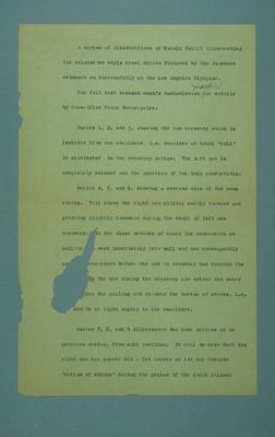 Manuscript promoting Herald Learn to Swim campaign, c1930s