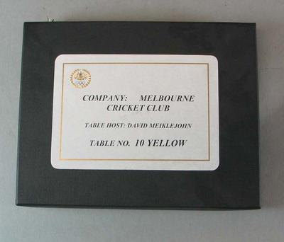 Plaque presented to the Melbourne Cricket Club at the Prime Minister's Olympic Dinner, 19 July 2008.