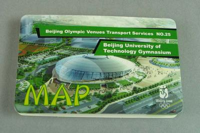 Map - Beijing Olympic Venues Transport Services No. 25, Beijing University of Technology Gymnasium