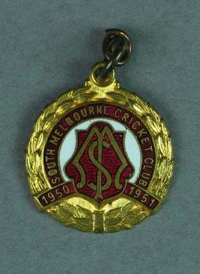 South Melbourne Cricket Club membership medallion, season 1950-51