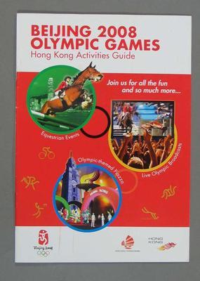 Beijing 2008 Olympic Games - Equestrian - Hong Kong Activities Guide, in English