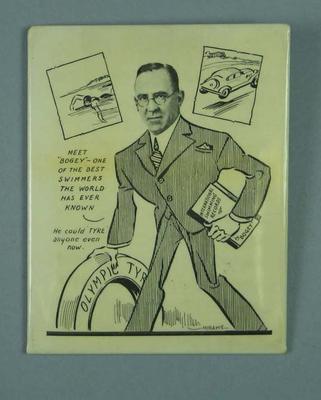 Caricature of Frank Beaurepaire