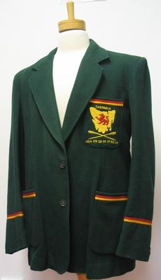 Blazer, Tasmanian Rowing Team 1920s and 1930s possibly belonged to E.L. Gibson