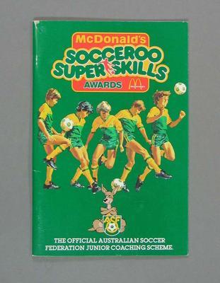 "Booklet, ""Socceroo Super Skills"""