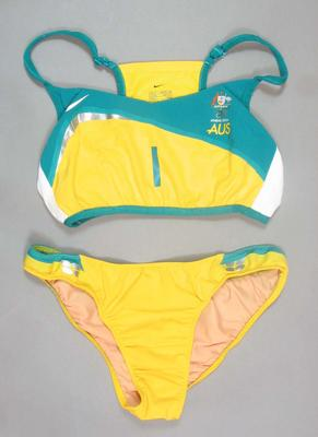 Beach volleyball uniform worn by Natalie Cook, 2004 Athens Olympic Games
