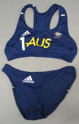 Beach volleyball uniform worn by Natalie Cook, 2008 Beijing Olympic Games; Clothing or accessories; N2008.8