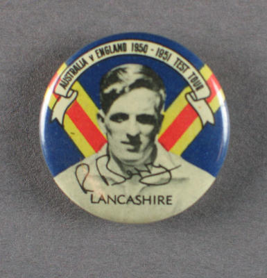 Badge with image of Robert Berry, 1950-51