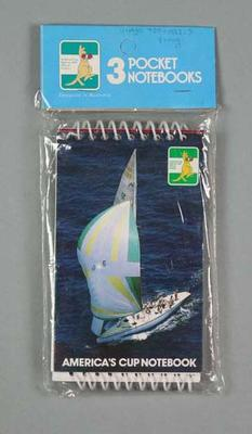 Notepads, 1987 America's Cup Competition