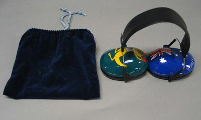 Ear muffs worn by Stacy Roiall, 2008 Beijing Olympic Games