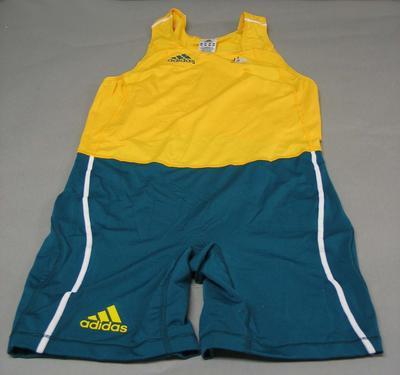 Rowing bodysuit worn by Drew Ginn, 2008 Beijing Olympic Games