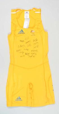Unworn hockey bodysuit signed by Australian women's hockey team, 2008 Beijing Olympic Games