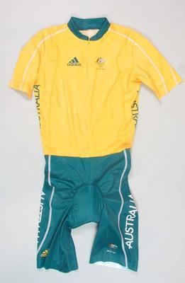 Unworn men's track cycling bodysuit, 2008 Beijing Olympic Games