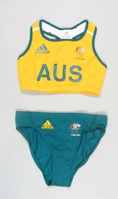 Unworn women's athletic uniform, 2008 Beijing Olympic Games
