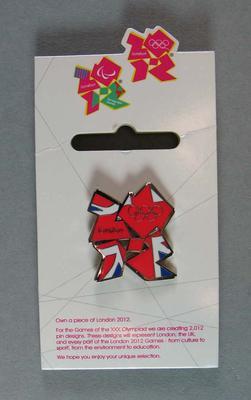 Lapel pin, 2012 London Olympic Games