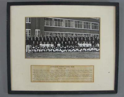 Photograph of 1948 Australian Olympic Games team