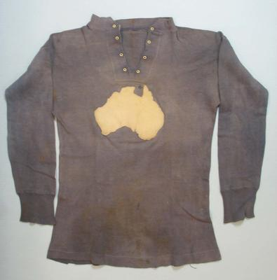 Football Jumper worn by Ben Hastie Mills, match between Australian Training Units & 3rd Australian Divisional Team, London, 28 October 1916