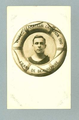 Frank Beaurepaire as World's Amateur Champion of 1910
