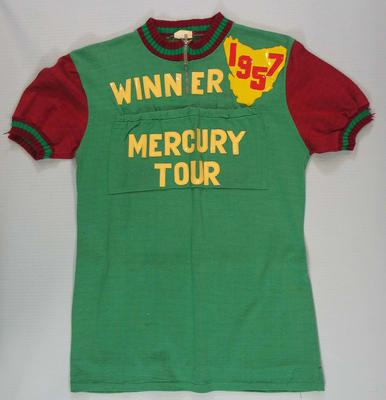 Jersey worn by cyclist Russell Mockridge - 1957 Mercury Tour