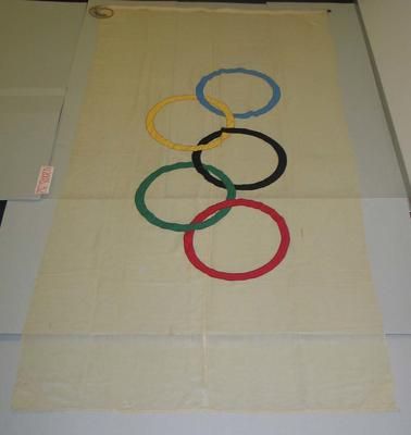 Flag, flown at Melbourne Cricket Ground during 1956 Olympic Games