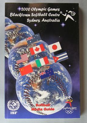 Official Softball Media Guide for the 2000 Sydney Olympic Games, held at Blacktown Softball Centre, Sydney