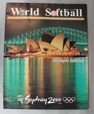 'World Softball' magazine, Olympic Edition, Volume 29, Number 7, May-Aug 2000