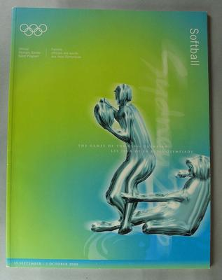 Official Olympic Games Sport Program for Softball, Sydney Olympic Games, 15 September - 1 October 2000