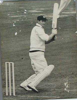 Photograph of Keith Miller, 2nd Test England v Australia, Lords 26 June 1956