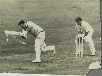 Photograph of Keith Miller during the Third Test, England v Australia at Leeds - 17 July 1956