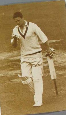 Photograph of Keith Miller, England v Australia Test match at Lord's - 29 August 1956