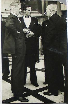 Photograph of Keith Miller and Sir Anthony Eden, House of Lords - 23 July 1956