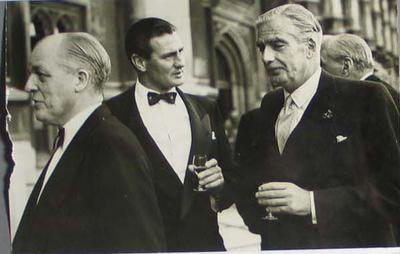 Photograph of Sir Anthony Eden and Keith Miller, House of Lords - 23 July 1956