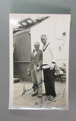 Photograph of Stan McCabe and Bill O'Reilly, Australian tour of South Africa 1935-36