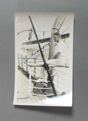Photograph of Bill Brown, Australian tour of South Africa 1935-36