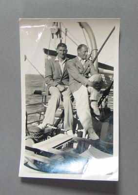 Photograph of Ernie McCormick & Bert Oldfield, Australian tour of South Africa 1935-36