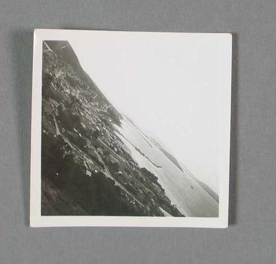 Black and white photograph of ship arriving in Albany, Australian XI tour of South Africa 1935-36