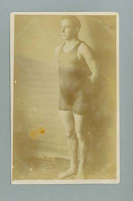 Postcard, image of Frank Beaurepaire in bathing costume