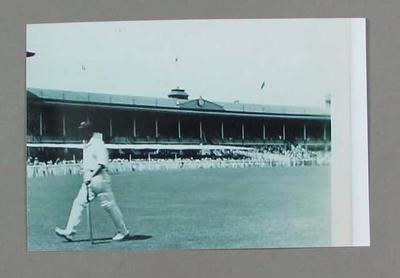 Black and white photograph, cricketer Arthur Morris, 3rd Test India v Australia at MCG. January 1948