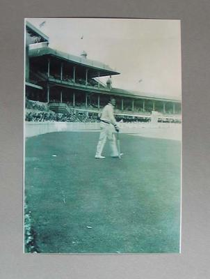 Black and white photograph, cricketer Keith Miller, 3rd Test India v Australia at MCG January 1948