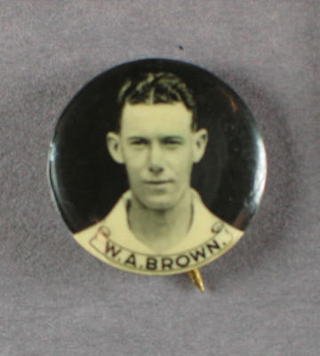 Badge with image of William Brown, 1934