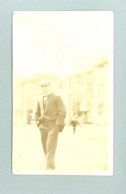 Postcard, depicts Frank Beaurepaire in Hastings - 1 July 1910